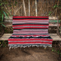 Striped bordeaux rug (Dorze tribe)