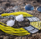 'Rhythm of the Hamer Tribe' statement necklace