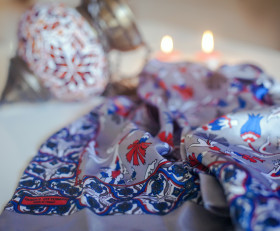 Turkish Ornament Silk Scarf
