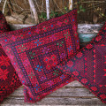Three pillows set with hand embroidery 'Arab tribes motive'