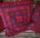 Hand-embroidered pillow 'Arab tribes motives' (multicolor)