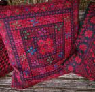 Подушка с ручной вышивкой 'Арабские мотивы' (разноцветная)