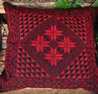 Подушка с ручной вышивкой 'Арабские мотивы' (красная)