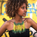 'Rainfall in the Ethiopian Forest' statement necklace