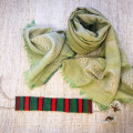 Mustard-green cotton scarf (Dorze tribe)