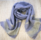 Pale lilac cotton scarf (Ethiopia)