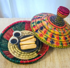 Banana straw dish with the lid (Ethiopia)