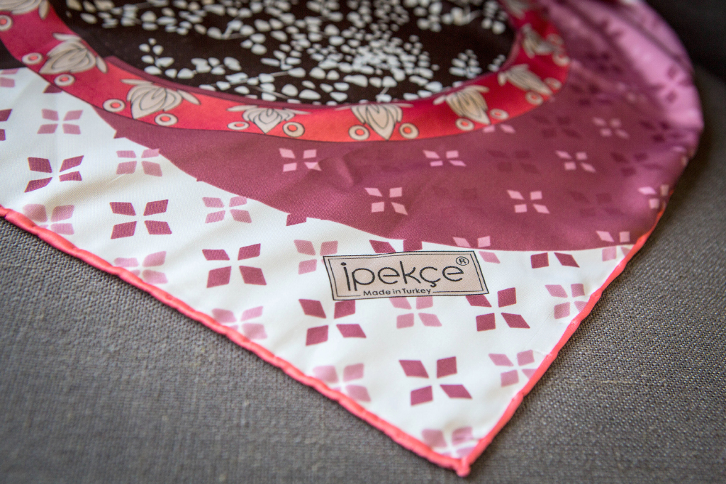 "Silk scarf ""Turkish circles"""