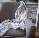 Шелковый платок «Голубой тюльпан»